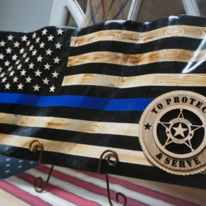 Police/Sheriff Blue Line Flags